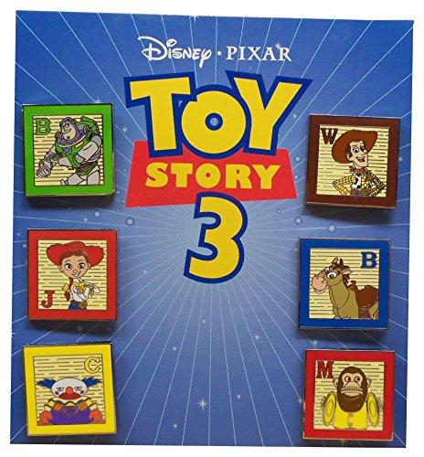 Pixar Spielzeug Geschichte 3 Sammler Pin Set Buzz Woody Jessie Bullseye Chuckles AFFE (Bullseye Jessie Woody Buzz)