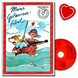 Meine Gitarrenfibel Band 1 mit CD von Heinz Teuchert (Gitarren Schule) - neues, erweitertes Lehrerheft mit Hinweisen und Begleitstimmen - mit bunter herzförmiger Notenklammer