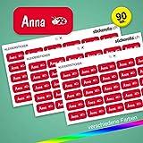 Stickerella - 90 Namensaufkleber für Kinder