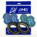 Replacement ear cushions for Bose Quiet Comfort 25 (QC25) headphones. Complete with original style QC25 scrims and BRAND NEW AHG blue/black scrims both with L and R lettering (Black, with Blue/Black Scrims)