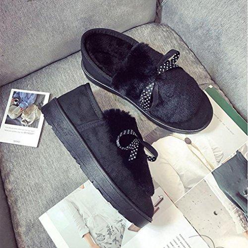 Zapatos Planos De Mujer, Somesun Zapatos Casuales De Invierno Para Mujeres Calzado Plataformas En Aleación Arco Negro