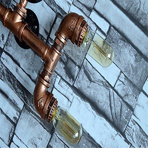 E27 Industrie-Retro Handmade Eisen-Wasser-Rohr 4 Köpfe Edison Lampe Wall Lamp Cafe Bar Pub Club Hotel Mall Restaurant Motel Wall Light Home Decor innen einfache Vintage Wandlampen,11.5 * 35 * 26cm