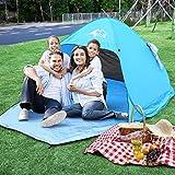 Bfull Strandmuschel UV 50 Sonnenschutz Pop Up Strandzelt Extra Leicht Wurfzelt für 1-2 Personen Outdoor Familienzelt