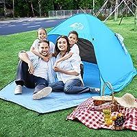 Features:    Bfull Pop-up-Zelt der neuen Generation für Multi-Anwendungen, es hat eine Tür mit Reißverschluss, die leicht geöffnet oder geschlossen werden kann, und einen Vorhang in seinem Rücken, der leicht zu hängen und zu setzen ist Nieder. Ist e...