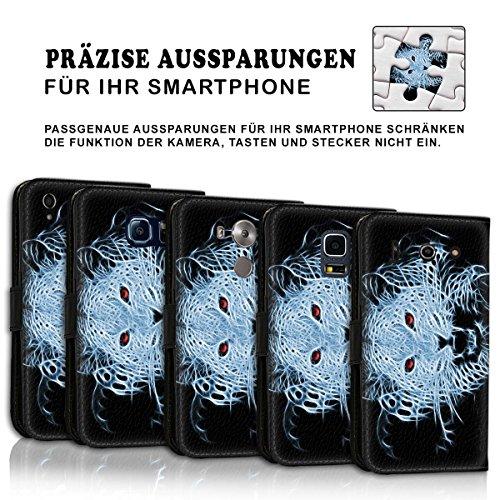 Wallet Book Style Flip Handy Tasche Case Schutz Hülle Schale Motiv Etui für Apple iPhone 4 / 4S - Variante UMV11 Design12 Design 2