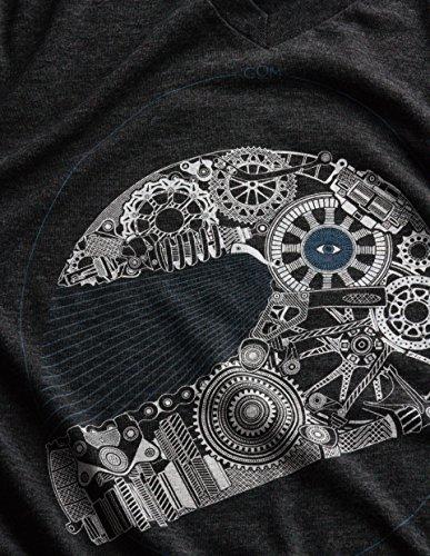 GOM Paris Herren Langarmshirt Helmet / Gris foncé chiné motif série 1