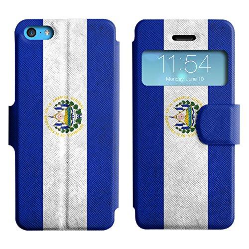 Graphic4You Vintage Uralt Flagge Von Mexiko Mexikanisch Design Leder Schützende Display-Klappe Brieftasche Hülle Case Tasche Schutzhülle für Apple iPhone 5C El Salvador Salvadorianisch