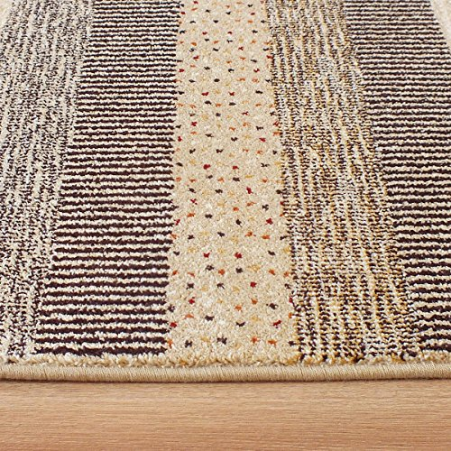 Woodstock Stripes Rug 32743-6332 Cream, Brown & Beige Stripes 1.6m x 2.3m (5'3 x 7'6 approx)