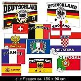 Fahne Flaggen EM 2016 90 x 150cm alle Teilnehmer (Deutschland2)