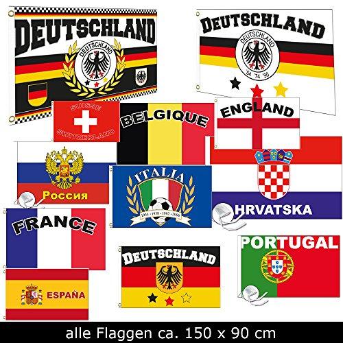 Fahne Flaggen EM 2016 90 x 150cm alle Teilnehmer (Italien)