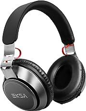 EKSA 4,2 Bluetooth Kopfhörer 30 Stunden Spielzeit Verkabeltes & Kabelloses Over Ear Headset, Dual 40mm Treiber Pefekte Bass, Over-Ear Steuerung Soft Memory-Protein Ohrenschützer, eingebautes Mikrofon und 3,5mm AUX Kabel