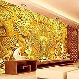 Wallpaper gute goldene tausend Hand Guanyin Buddha Wand Hintergrund Wanddekoration Malerei