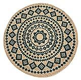Luxor Living Teppich Mamda aus Jute, rund, strapazierfähig, handgeflochten, Farbe:Beige, Größe:Ø 80 cm