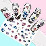 Arte de uñas: Calcomanías y autoadherentes Calcomanía Transferible con Agua Atrapasueños Pegatina Tatuaje para Uñas Nail Sticker - FashionLife