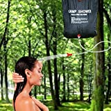 Solar Shower Bag, Topist 5 Gallon Outdoor Solar Energy Heated Camp Portable Shower PVC Water Bag with On/ Off Nozzle for Camping, Hiking, Traveling, Backpacking by Topist