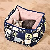 MiaoMiao New Lightweight Fabric Pet Dog/Cat House Bed Four Seasons Cat Litter Kennel Soft Warm Pet Nest With Removable Pet Mats,Colors