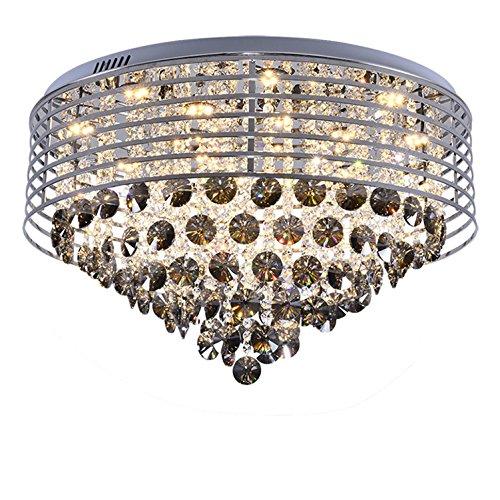 Empire Silber Moderne Kronleuchter (Moderne Wohnzimmer LED Deckenleuchte Kristall Lampe Wohnzimmer Runde Kristall Deckenleuchte Schlafzimmer Kronleuchter Warme Romantische Zeichen 70 Cm * Hohe 40 Cm)
