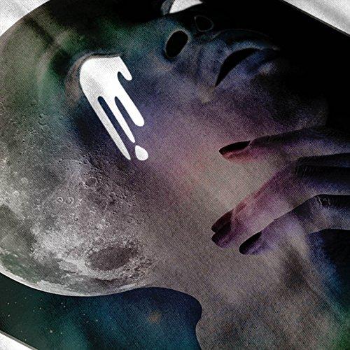 Schrei Mond Cool Kunst Fantasie Voll Mond Damen S-2XL Muskelshirt | Wellcoda Weiß