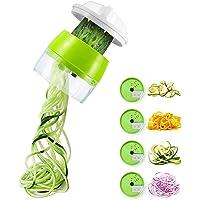 AUCHIKU Coupe Légumes Spirale, 4 en 1 Spaghetti de Légumes Spiralizer Legume,Coupeur de légumes Coupe, Végétale…