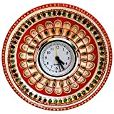 MULTI COLORED KUNDAN WORK ALARM CLOCK IN...