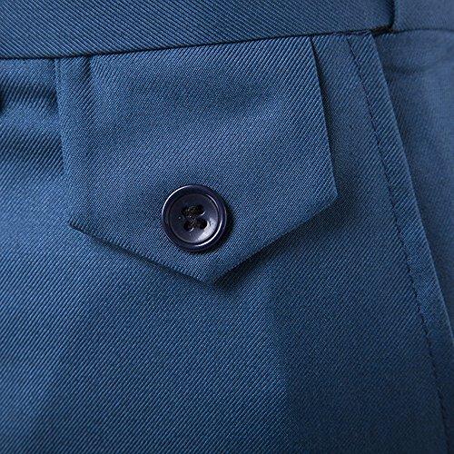INFLATION Herren Anzughose Slim Fit Business Hose Herren Anzug Anzughose Smoking Hose mens pant 9 Farben DE Größe 28-38 Hellblau