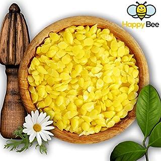 Happy Beene Cire d'abeille 100% pure pour les cosmétiques et la fabrication de bougies 200 g
