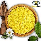 Happy Beene 200 Gramm 100% Reines Bienenwachs - Pure Gelbe Bienenwachs Pastillen - Perfekt Geeignet für Kosmetik und die Kerzen Herstellung mit der Ganzen Familie