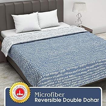 Divine Casa Twilight Polka Dot 110 GSM Microfibre All Weather Double Dohar - Blue
