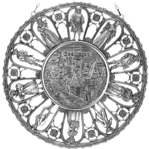 Städtemedaille Esslingen um 1840 in Kostümerahmen