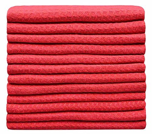 Sinland super assorbente waffle weave panni microfibra per La Pulizia del Viso strofinacci da cucina 30cmx30cm rosso Confezione da 12