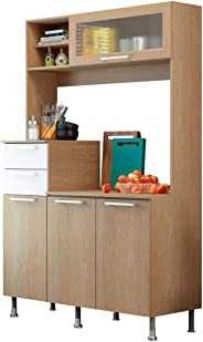 Ditalia Moveis Kitchen Cabinet, Brown And White, CD376 - 194Hx120Wx52D cm
