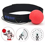 KWOW Boxing Reflex Ball, Portable Boxing Training Speed Ball with Headband for MMA Speed Training Adult/Kids Gift Improve Pun