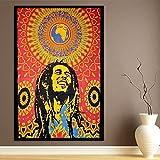World breit Kart Bob Marley One World Poster Psychedelic indischen Gypsy Bohemian Multicolor Wandteppichen Ethnic Dekorative Home Decor Wohnheim Überwurf Art 76,2x 101,6cm
