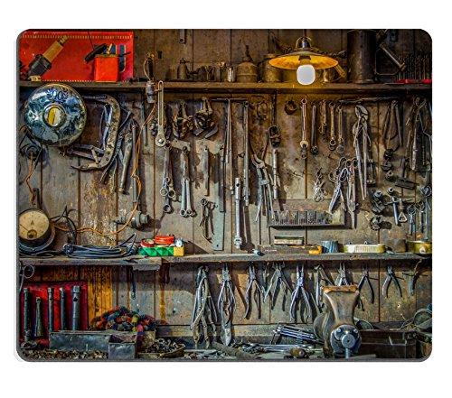 MSD Naturkautschuk Mousepad Bild 25799637Vintage Tools Aufhängen an einer Wand in ein Gerätehaus oder Werkstatt 7698