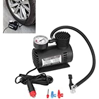 PrimeOne Car Air Compressor Electric Portable Tyre Inflator 12V 300 PSI Air Pump Plastic for Motorbike Bicycle Football,Cycle