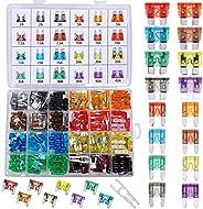 288 Pieces Car Fuses Assortment Kit - Blade Fuses Automotive - Standard & Mini & Low Profile Mini Size