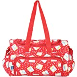 Multifunctional Diaper Bag with Multiple Pockets (Ferrari Red)