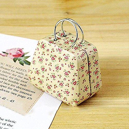 Bluelover Mini Kleine Zinn-Münzkassette-Geldbeutel-Kasten-Schmucksache-Tea-Aufbewahrungsbehälter der hellen Blumen
