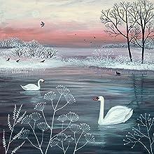 Jo Grundy-Serenity-Tela, 40 x 40 cm, Motivo: Impronte, Colore