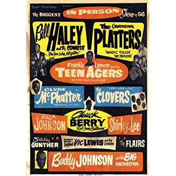 AD65 Vintage 1950's Everly Brothers Buddy Holly Concert Poster Re-Print A3//A4