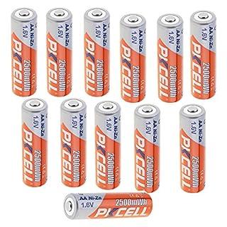 AA-Akkus Nickel-Zink wiederaufladbare Batterien NiZn 1,6 V Volt 2500 mWh Batterien (12pcs, AA)