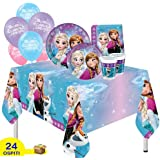 Y5056 Ciao- Kit Party Tavola Disney Frozen Primavera per 8 Persone 44 Pezzi /Ø23cm, 8 Piatti /Ø20cm, 8 Bicchieri, 20 Tovaglioli
