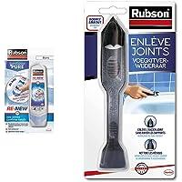 Rubson Bain & Cuisine RE-NEW, mastic sanitaire blanc à base de silicone, 1 x 100 ml & Outils Enlève Joint - permet d…