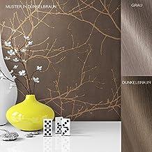 vliestapete vinyl tapete mit baummuster braun grau beige in edelster ausfhrung auergewhnliches tapetenmuster in moderner - Tapete Muster
