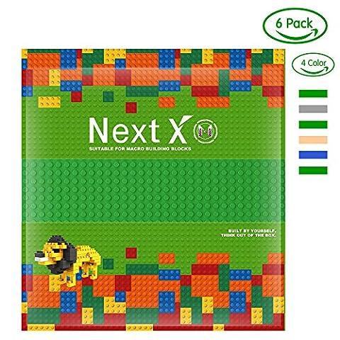 NextX 6 Stück Grundplatten Große Bauplatte Kompatibel mit Lego Gebäude Spielzeug,25cm* 25cm Verdickung Bausteine Platten set 32 * 32Punkte