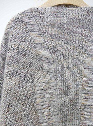 Futurino Femme Hiver/Automne Chaud Knit Tricots Lässige Pockets Offener Tricots Manteau Hiver Cardigan Veste Multicolore