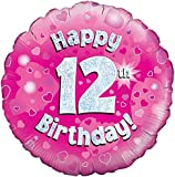 Oaktree UK 18-Inch Glücklicher 12Geburtstag Buildings Design Balloons, Pink