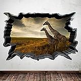 Wall Smart Designs Full Farbe Giraffe Wild African Animal Raum Art Wand Aufkleber Aufkleber Transfer wsd620