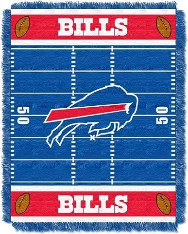 NFL Buffalo Bills Field Woven Jacquard Baby Throw Blanket,
