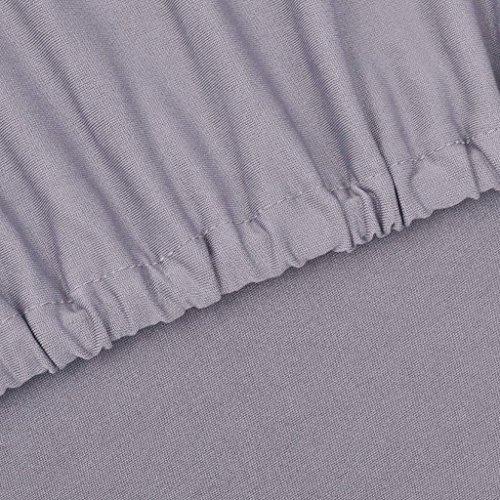 Xingshuoonline Sofa Abdeckung Sofahusse Sofabezug Stretchhusse Grau Polyester-Jersey Sofa Überwürfe